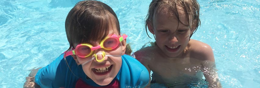NWCSRA participants having fun in the sun at the pool.